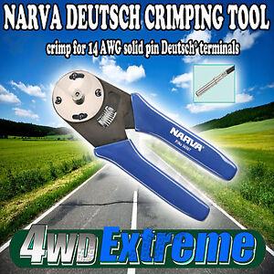 NARVA-DEUTSCH-CRIMPING-TOOL-14-AWG-SOLID-PIN-TRAILER-PLUG-CRIMPER-LIGHTS-56507