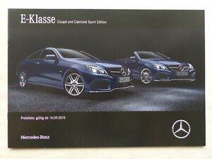 Mercedes-Benz-E-Klasse-Coupe-amp-Cabrio-Sport-Edition-Prospekt-Preisliste-9-2015