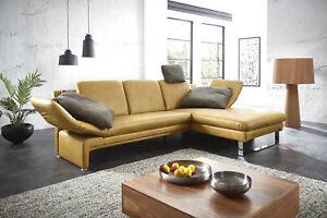 Echt-Leder-Sofa-Capri-V2-Couch-Sofagarnitur-Ecksofa-Eckcouch-Wohnlandschaft-NEU