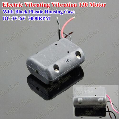 Black Shell DC 3V 5V 6V Mini Vibrating Vibration Motor DIY Toy Massage Cushion