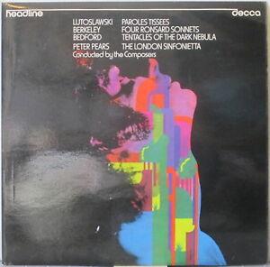 LUTOSLAWSKI-Berkeley-BEDFORD-Headline-series-LP-Contemp-Classical-w-Peter-Pears