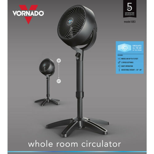 NEW! Vornado 38-in Adjustable Height Whole Room Ciruculation 3-Speed Stand Fan