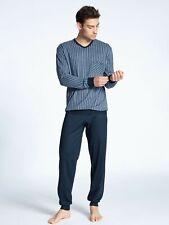 40580 Neu/%OVP 100/% Baumwolle Calida Herren Pyjama lang ohne Bündchen Art