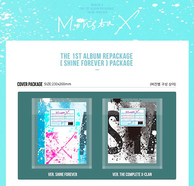 MONSTA X 1ST ALBUM REPACKAGE CD+photobook+photocard+2folded poster  Free ship
