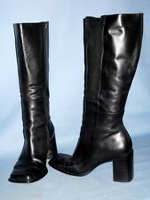 "5882_SEXY CONNIE WOMEN'S BLACK 3"" HEEL BRAZILIAN MADE KNEEHIGH BOOTS SIZE 8-1/2M"