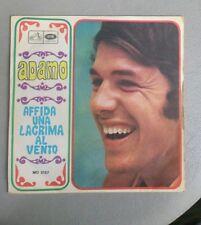 """DISCO VINILE 45 giri """"Affida una lacrima al vento"""" Adamo 1968"""