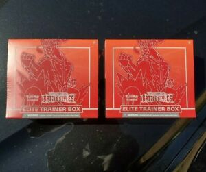 Pokemon Battle Styles Elite Trainer Boxes ETB Set of 2 Red TCG Sword and Shield!