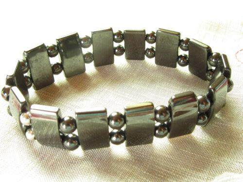 Hematites Power especial pulsera magnética de 22 cm en tejido stretchband
