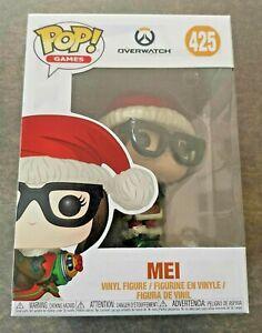 Figura-Funko-Pop-Games-425-Overwatch-Mei-Edicion-Limitada-Navidad-Nuevo