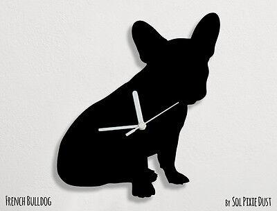 French Bulldog Dog Silhouette 2 - Wall Clock