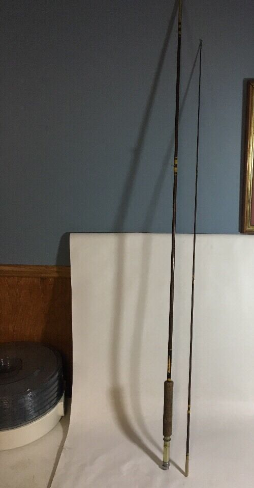 Vintage South Bend 3140 Fly Fishing Rod  81 2' Rod 2 PC USA - Line HDH or D Brown  big sale