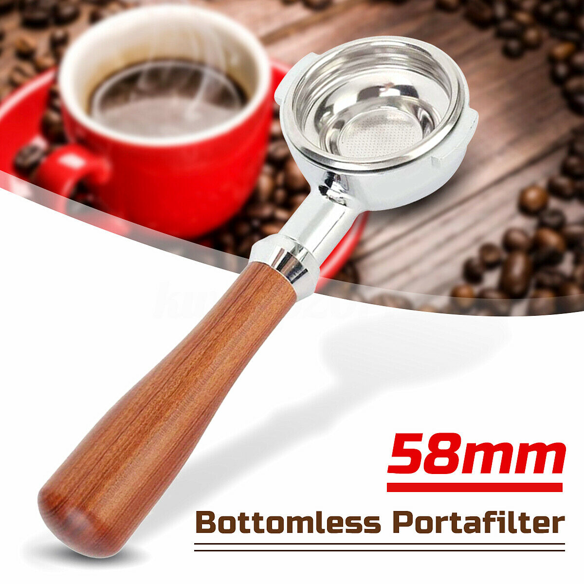 Futons NRP Rosewood Naked Portafilter 51mm Replaces for