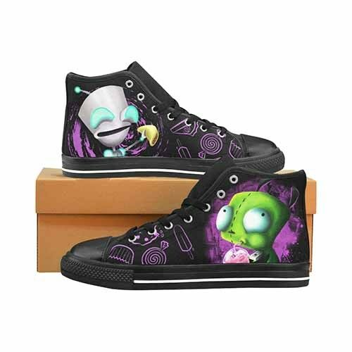 Invader Zim Gir LADIES Classic High Top Canvas scarpe