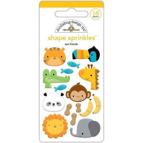 Doodlebug Design At the Zoo Sprinkles Enamel Shapes Zoo Friends 5554 2017