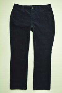 TALBOTS-Heritage-Size-10-P-PETITE-Womens-Stretch-NAVY-BLUE-CORDUROY-Pants