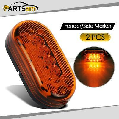 5pcs Amber Camper Trailer RV Lights 2 x 4 surface mount Clearance marker 10LED