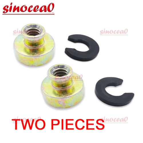 Pair Rear Solo Two Up Seat Rack Nut Base for Harley Dyna Softail Touring 96-17