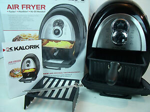 kalorik electric no oil airfryer deep frying healthy cooking baking ft37999ss ebay. Black Bedroom Furniture Sets. Home Design Ideas