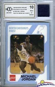 1989-UNC-17-Michael-Jordan-Rookie-w-Worn-UNC-Shorts-Beckett-10-MINT-GGUM