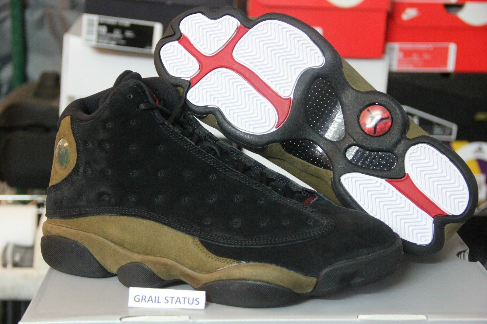 info for 44da9 34ad9 ... best price 2018 hombre nike air jordan 13 retro xiii rojo olive negro  true rojo xiii