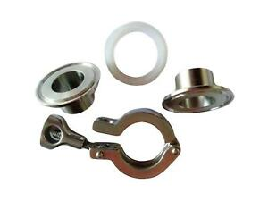 "Tri Clamp Stainless Steel 9 Sanitary Fittings Clamp Kit (9/9"" - 9 ..."