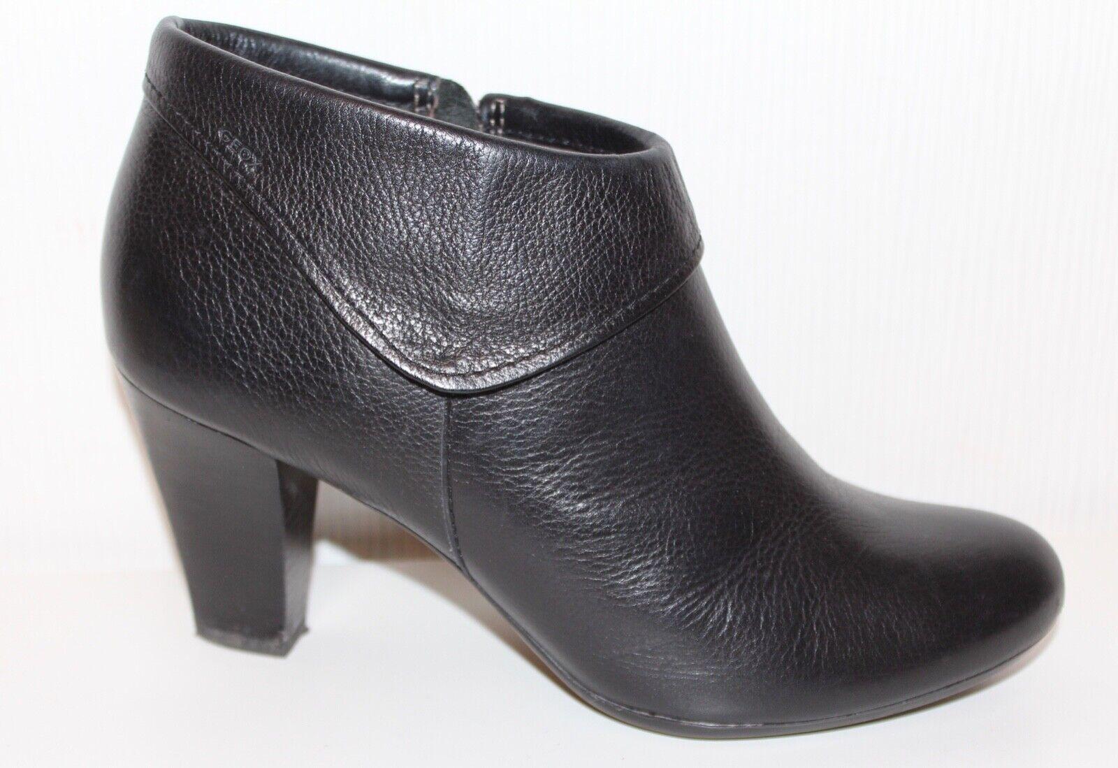GEOX LEDER STIEFELETTEN High HEEL Ankle Chelsea Pistol Stiefel 38 StiefelIES STIEFEL
