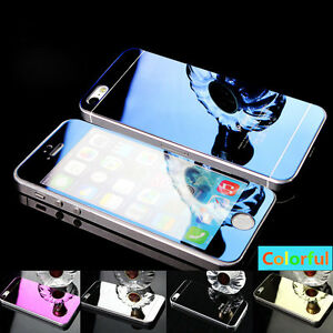 Premium-Color-Mirror-Tempered-Glass-Screen-Protector-For-iPhone-5S-6S-7-Plus-Lot