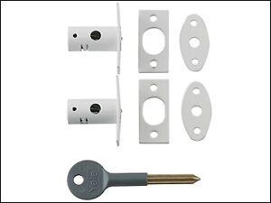 YALE Locks 8001 bulloni di sicurezza finitura bianca confezione da 2 il visitatore YALV 80012WE  </span>