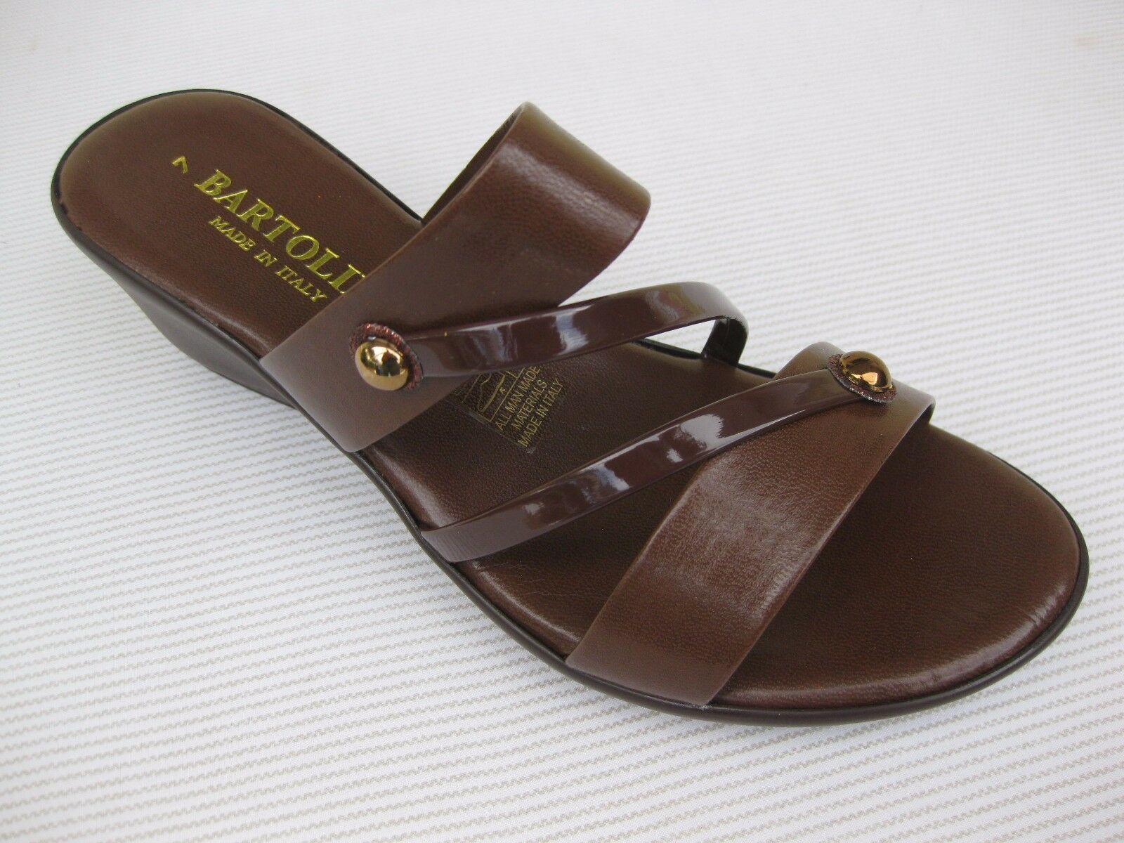 Bartolini Womens Shoes Brown $49 Elba - 1 Brown Shoes Slide Wedge Italy 9 d8d0db