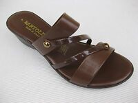 Bartolini Womens Shoes $49 Elba - 1 Brown Slide Wedge Italy 10