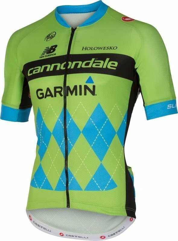 CASTELLI Cannondale G Team 2.0 SS Men's Bike Jersey SMALL  verde   199.99