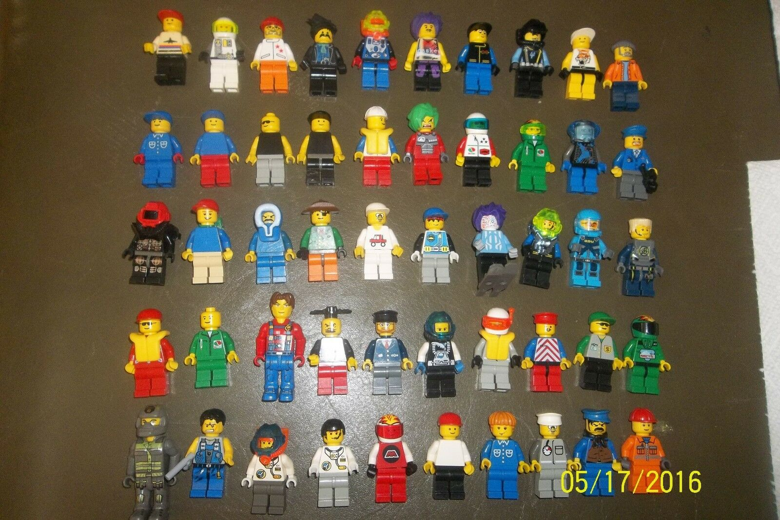 Lot of  50 Lego Minifigures minfigs misc  etc parts accessories  a