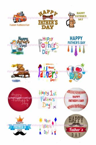 """FATHERS DAY 2/"""" CUPCAKE TOPPERS $3.45-$6.50 *****FREE SHIPPING*****"""