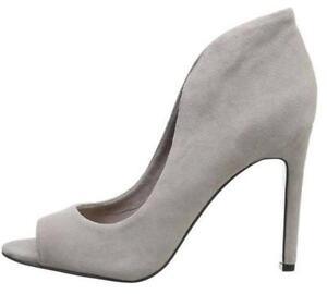 6d554486acd Women s Shoes Vince Camuto KAROLYNN Peeptoe Pumps Heels GREY SUEDE ...