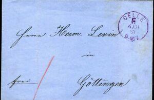 """413887) Franco-cachet Viol. K1 Celle F. 1867 Sur Blg M. Botenlohn"""" 1""""-afficher Le Titre D'origine Quell Summer Soif"""