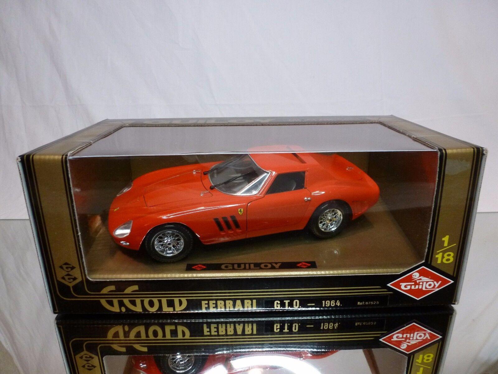 GUILOY 67525 FERRARI GTO 1964 - rosso 1 18 - EXCELLENT IN BOX