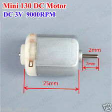 Dc15v 3v 9000rpm Small Micro Mini 130 Electric Motor For Hobby Rc Toy Car Model