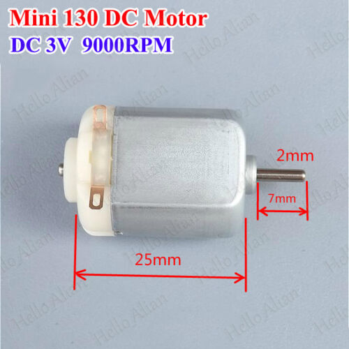 DC1.5V-3V 9000RPM Small Micro Mini 130 Electric Motor For Hobby RC Toy Car Model