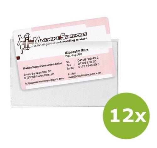 12x Veloflex Visitenkartentaschen Kartenhülle VELOCOLL® Innenmaß 90 x 57 mm