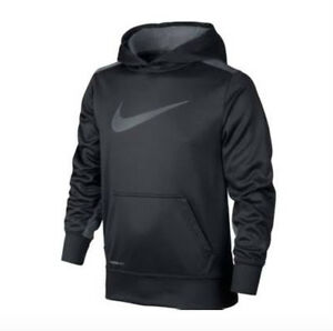 Nike KO 3.0 Knockout Therma-Fit Hoodie Dark Grey $40 716859-060 Boys/Youth Small