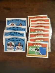 2021 Topps Heritage Cristian Pache Luis Garcia Rookie RC Lot (12) In Action