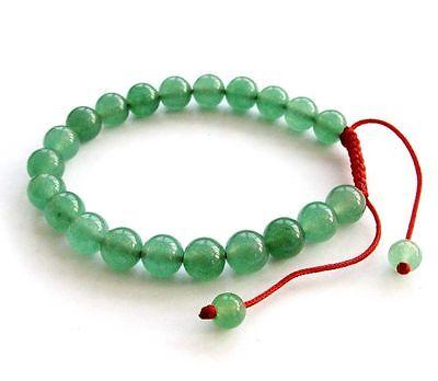 Green Jade Gem Tibet Buddhist Prayer Beads Mala Bracelet