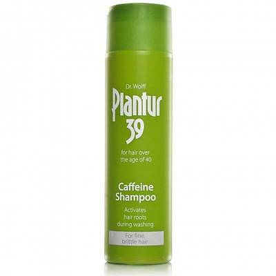 2 x Plantur 39 Caffeine Shampoo Activates Hair Roots During Washing 250ML