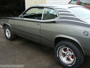 1970 1976 Duster Custom Race Stripes From Nose To Tail Diy Decal
