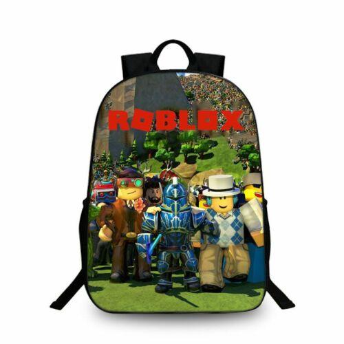 3 Stücke Roblox Rucksack Schultaschen Schulranzen Taschen Mäppchen