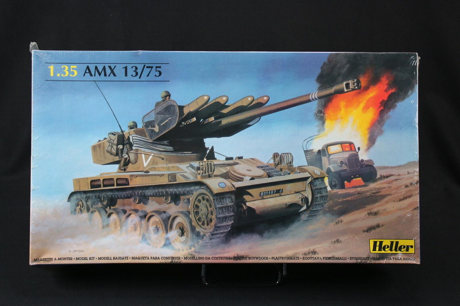 YP028 HELLER 1 35 maquette tank char 81122 AMX 13 75 annee 1986