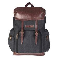 Beschoi Camera Backpack Vintage Canvas Leather Backpack Camera Bag for DSLR SLR