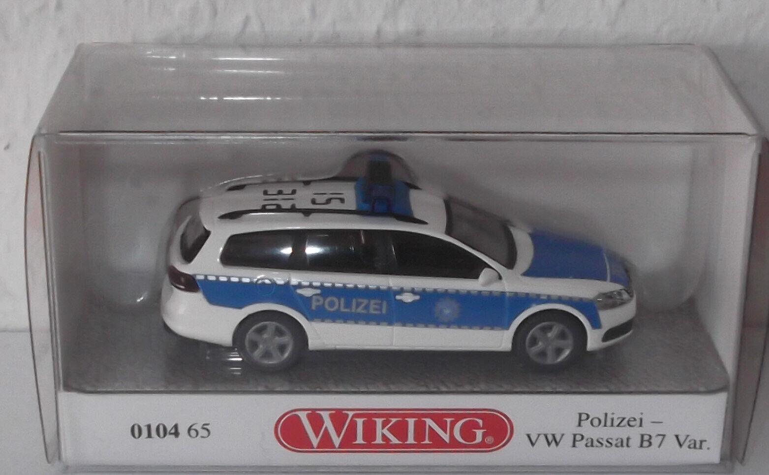 Wiking VW Passat Variant b7 Bianco Blu federali polizia n. 15-312 modello speciale