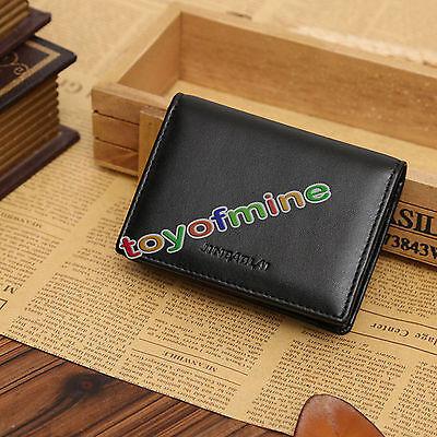 New Genuine Leather Men's Small Id Credit Card Wallet Holder Slim Pocket Case