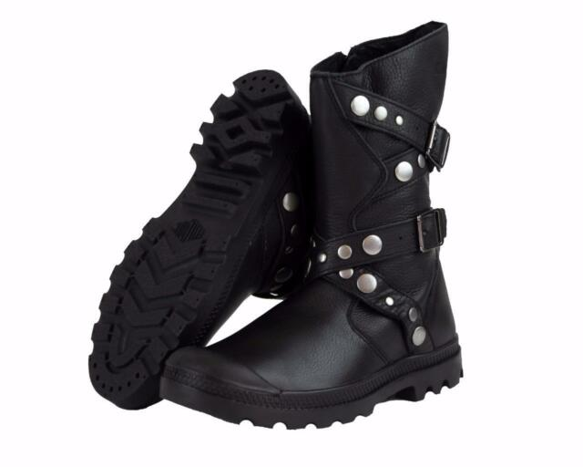 New Women s Palladium Polegate Leather Boots US Size 6-11 Black 93264-001 ab4fd7dc2